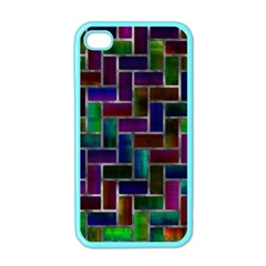 Colorful Rectangles Pattern Apple Iphone 4 Case (color) by LalyLauraFLM