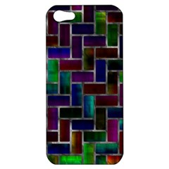 Colorful Rectangles Pattern Apple Iphone 5 Hardshell Case by LalyLauraFLM