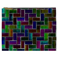 Colorful rectangles pattern Cosmetic Bag (XXXL) by LalyLauraFLM