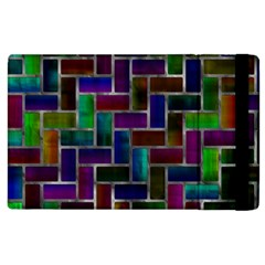 Colorful Rectangles Pattern Apple Ipad 3/4 Flip Case by LalyLauraFLM