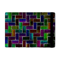 Colorful Rectangles Pattern Apple Ipad Mini Flip Case by LalyLauraFLM