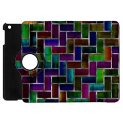 Colorful Rectangles Pattern Apple Ipad Mini Flip 360 Case by LalyLauraFLM