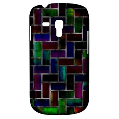 Colorful Rectangles Pattern Samsung Galaxy S3 Mini I8190 Hardshell Case by LalyLauraFLM
