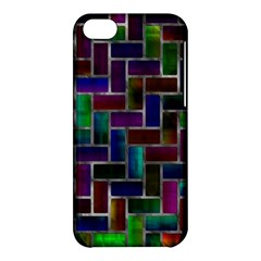Colorful Rectangles Pattern Apple Iphone 5c Hardshell Case by LalyLauraFLM