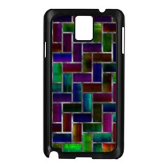 Colorful Rectangles Pattern Samsung Galaxy Note 3 N9005 Case (black) by LalyLauraFLM