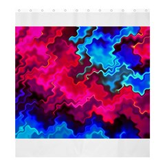 Psychedelic Storm Shower Curtain 66  X 72  (large)  by KirstenStar