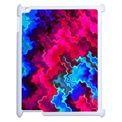 Psychedelic Storm Apple Ipad 2 Case (white) by KirstenStar
