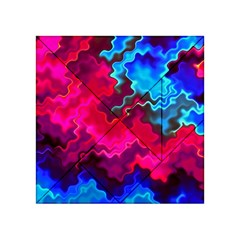 Psychedelic Storm Acrylic Tangram Puzzle (4  x 4 ) by KirstenStar