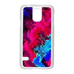 Psychedelic Storm Samsung Galaxy S5 Case (white) by KirstenStar