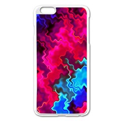 Psychedelic Storm Apple Iphone 6 Plus Enamel White Case by KirstenStar