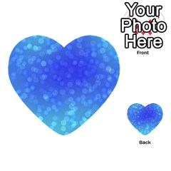 Modern Bokeh 8 Multi Purpose Cards (heart)