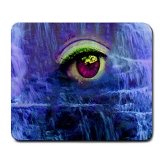 Waterfall Tears Large Mousepads by icarusismartdesigns