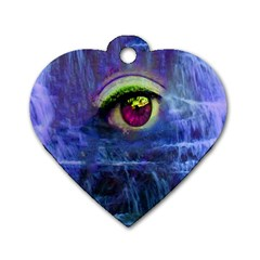 Waterfall Tears Dog Tag Heart (one Side) by icarusismartdesigns