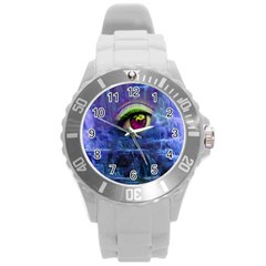 Waterfall Tears Round Plastic Sport Watch (l) by icarusismartdesigns