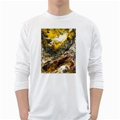 Surreal White Long Sleeve T Shirts by timelessartoncanvas