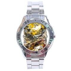 Surreal Stainless Steel Men s Watch by timelessartoncanvas