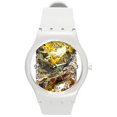 Surreal Round Plastic Sport Watch (m) by timelessartoncanvas