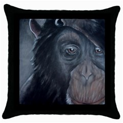 Humans Throw Pillow Cases (black)