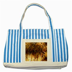 Sago Palm Striped Blue Tote Bag  by timelessartoncanvas
