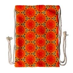 Cute Pretty Elegant Pattern Drawstring Bag (Large) by creativemom