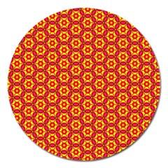 Cute Pretty Elegant Pattern Magnet 5  (round) by creativemom