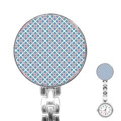 Cute Pretty Elegant Pattern Stainless Steel Nurses Watches by creativemom