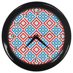 Cute Pretty Elegant Pattern Wall Clocks (black) by creativemom