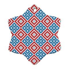 Cute Pretty Elegant Pattern Ornament (snowflake)  by creativemom