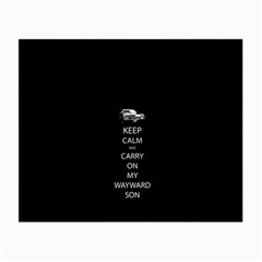 Keep Calm And Carry On My Wayward Son Small Glasses Cloth (2 Side) by TheFandomWard