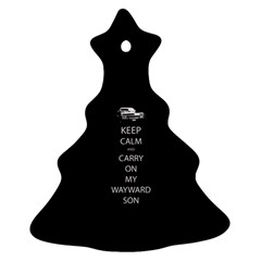 Keep Calm And Carry On My Wayward Son Ornament (christmas Tree) by TheFandomWard