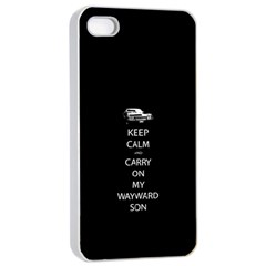 Keep Calm And Carry On My Wayward Son Apple Iphone 4/4s Seamless Case (white) by TheFandomWard
