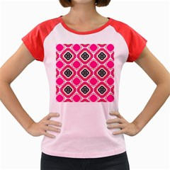Cute Pretty Elegant Pattern Women s Cap Sleeve T-Shirt by creativemom
