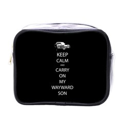 Keep Calm And Carry On My Wayward Son Mini Travel Toiletry Bag (one Side) by TheFandomWard