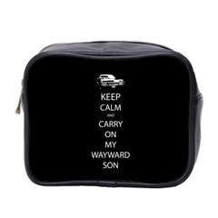 Keep Calm And Carry On My Wayward Son Mini Travel Toiletry Bag (two Sides) by TheFandomWard