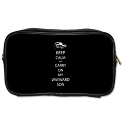 Keep Calm And Carry On My Wayward Son Travel Toiletry Bag (two Sides) by TheFandomWard