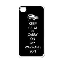 Keep Calm And Carry On My Wayward Son Apple Iphone 4 Case (white)