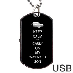 Carry On Centered Dog Tag Usb Flash (one Side) by TheFandomWard