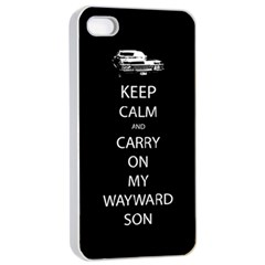 Carry On Centered Apple Iphone 4/4s Seamless Case (white) by TheFandomWard