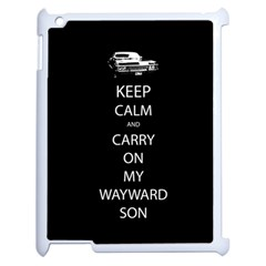 Keep Calm And Carry On My Wayward Son Apple Ipad 2 Case (white) by TheFandomWard
