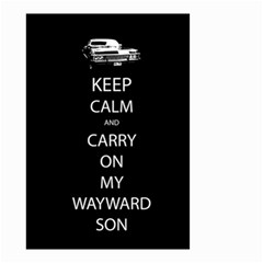 Keep Calm and Carry On My Wayward Son Small Garden Flag (Two Sides) by TheFandomWard