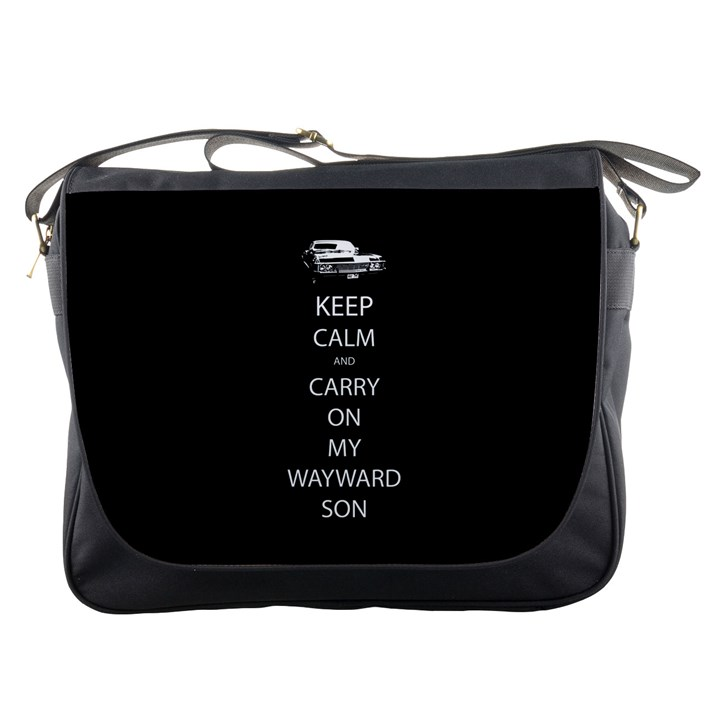 Keep Calm and Carry On My Wayward Son Messenger Bag