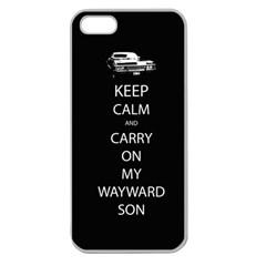 Keep Calm And Carry On My Wayward Son Apple Seamless Iphone 5 Case (clear) by TheFandomWard