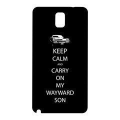 Carry On Centered Samsung Galaxy Note 3 N9005 Hardshell Back Case by TheFandomWard