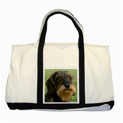 Wirehaired Dachshund Two Tone Tote Bag  by TailWags