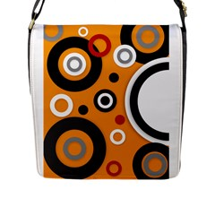 Florescent Orange Vector  Flap Messenger Bag (l)  by OCDesignss