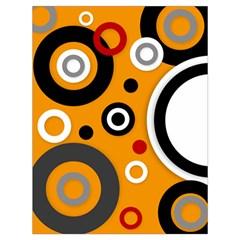 Florescent Orange Vector  Drawstring Bag (large) by OCDesignss