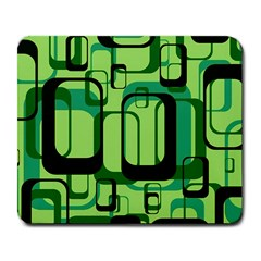Retro Pattern 1971 Green Large Mousepads by ImpressiveMoments