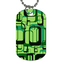 Retro Pattern 1971 Green Dog Tag (two Sides) by ImpressiveMoments