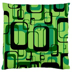 Retro Pattern 1971 Green Large Flano Cushion Cases (two Sides)  by ImpressiveMoments