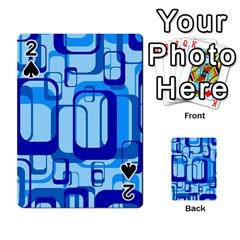 Retro Pattern 1971 Blue Playing Cards 54 Designs